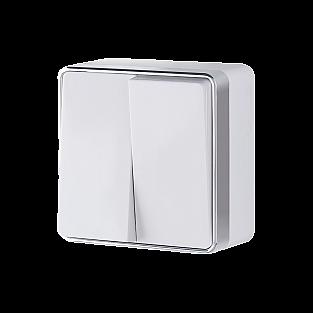 Выключатель двухклавишный Gallant (белый) WL15-03-01