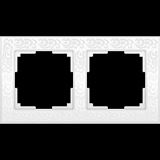 Рамка на 2 поста (белый) WL05-Frame-02-white