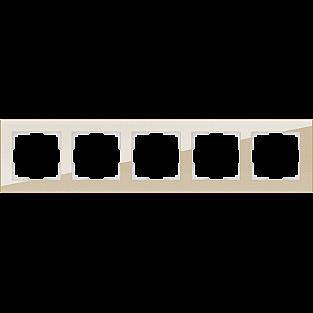 Рамка на 5 постов (шампань) WL01-Frame-05