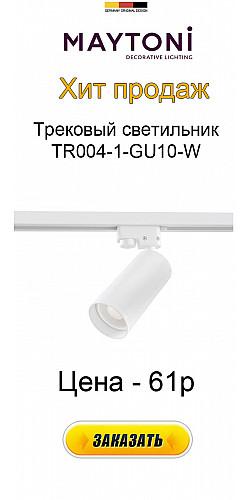 Трековый светильник TR004-1-GU10-W Track Maytoni