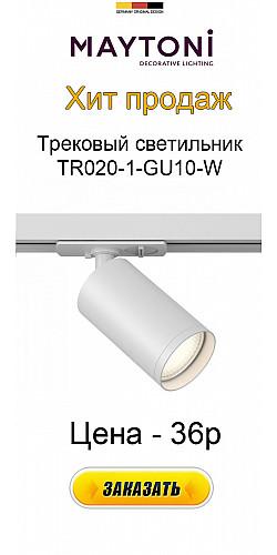 Трековый светильник Track lamps TR020-1-GU10-W