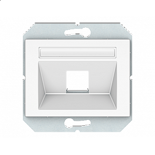 Лицевая панель для информационных розеток Vilma 4779101700114 (белый)