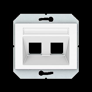 Лицевая панель для информационных розеток Vilma 4779101700121 (белый)
