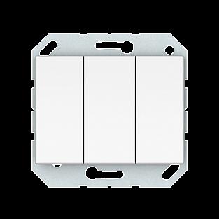 Выключатель 3-клавишный Vilma 4779101210590 (белый)