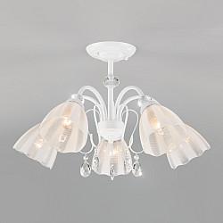 Потолочная люстра со стеклянными плафонами 30155/5 белый