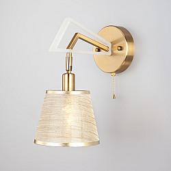 Бра с абажуром 60082/1 золотая бронза