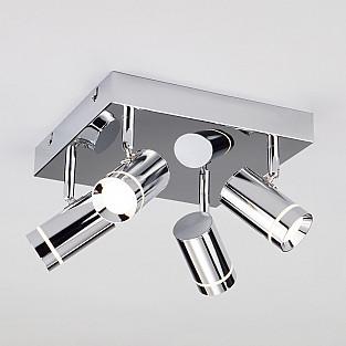 Потолочный светодиодный светильник с поворотными плафонами 20064/4 LED хром