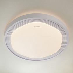 Круглый потолочный светильник с пультом 40006/1 LED белый