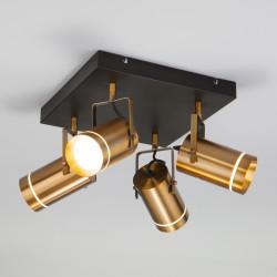 Потолочный светодиодный светильник с поворотными плафонами 20063/4 LED античная бронза