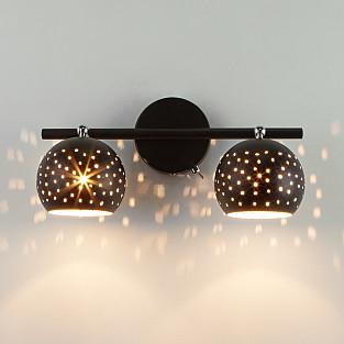 Настенный светильник с поворотными плафонами 20059/2 черный