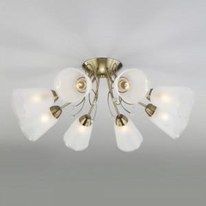 Потолочная люстра со стеклянными плафонами 30150/8 античная бронза