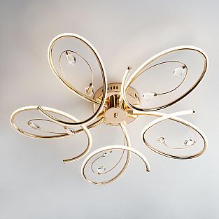 Светодиодный потолочный светильник 90099/5 золото