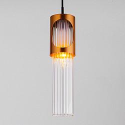 Подвесной светильник со стеклянным плафоном 50087/1 черный/бронза