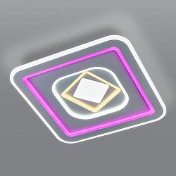 Потолочный светодиодный светильник с цветной подсветкой 90215/1 белый