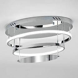 Потолочный светодиодный светильник с пультом управления 90160/2 хром