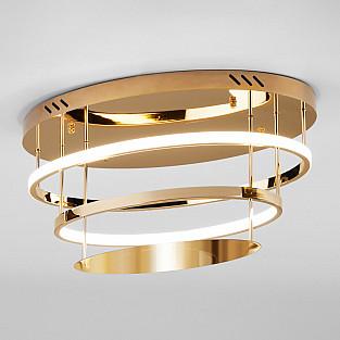 Потолочный светодиодный светильник с пультом управления 90160/2 золото