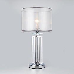 Настольная лампа с абажуром 01078/1 хром
