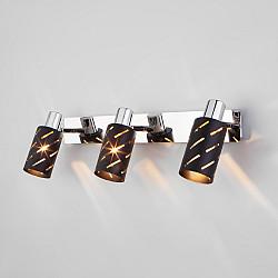 Настенный светильник с поворотными плафонами 20090/3 черный/хром