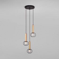 Подвесной светильник 50178/3 черный/бронза