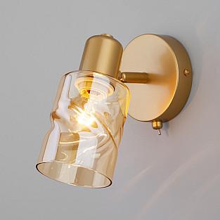Настенный светильник с выключателем 20120/1 перламутровое золото