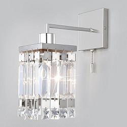 Настенный светильник с хрусталем 10100/1 хром/прозрачный хрусталь Strotskis