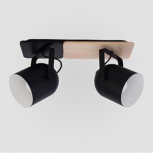 Спот с деревянным основанием 2630 Spectro Black