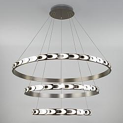 Подвесной светодиодный светильник с пультом управления 90163/3 сатин-никель