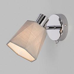 Настенный светильник с выключателем 20087/1 хром/серый