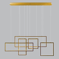 Подвесной светодиодный светильник с пультом управления 90178/5 золото