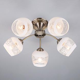 Потолочный светильник 30118/5 античная бронза