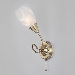 Бра со стеклянным плафоном 30275/1 античная бронза