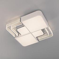Потолочный светодиодный светильник с пультом управления 90182/1 белый/серебро