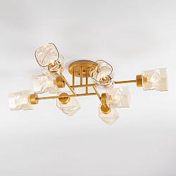 Потолочная люстра со стеклянными плафонами 30165/8 перламутровое золото