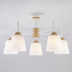 Потолочная люстра со стеклянными плафонами 70085/5 белый