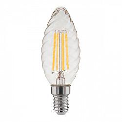 Свеча витая F 7W 4200K E14 прозрачный / Светодиодная лампа BL129